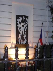 Jan Palach památník na londýnském Velehradě