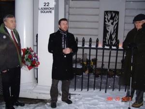 PALACH 2013 DR HRADÍLEK - zástupce velvyslance ČR, OTEC ENGELMANN - na návštěvě z Říma, ANTONIN STANE - Trustee Velehradu