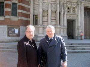 BISKUP VACLAV MALY A FR. VOJTECH ELIAS WESTMINSTER LONDON 2.4.2013